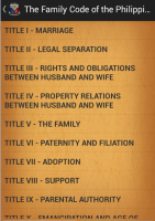 Family Code of the Philippines for PC